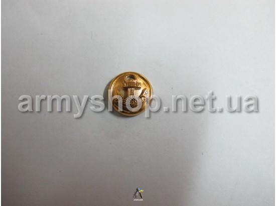 Пуговица ВМФ маленькая, золотая
