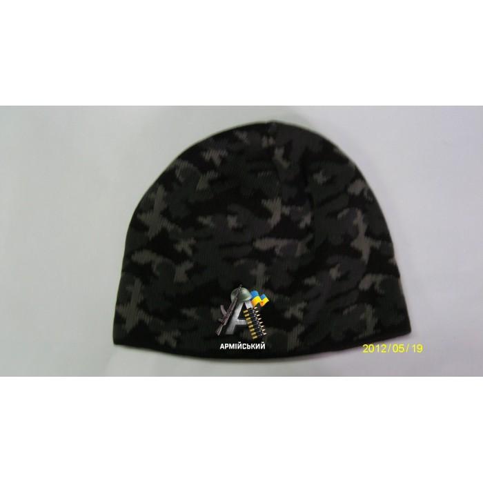 шапка вязаная комуфляжная